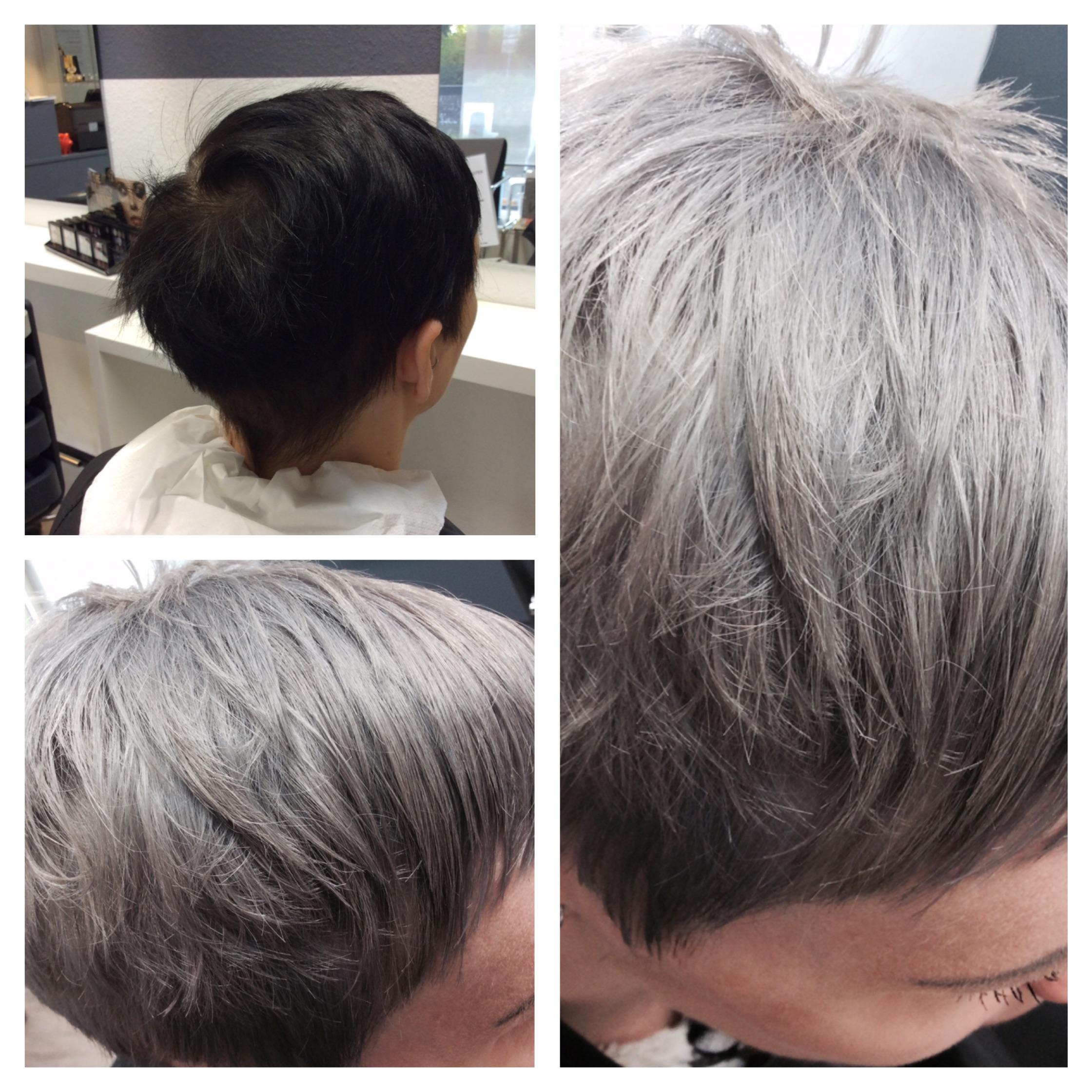 Granny Hair - von schwarz auf Grau