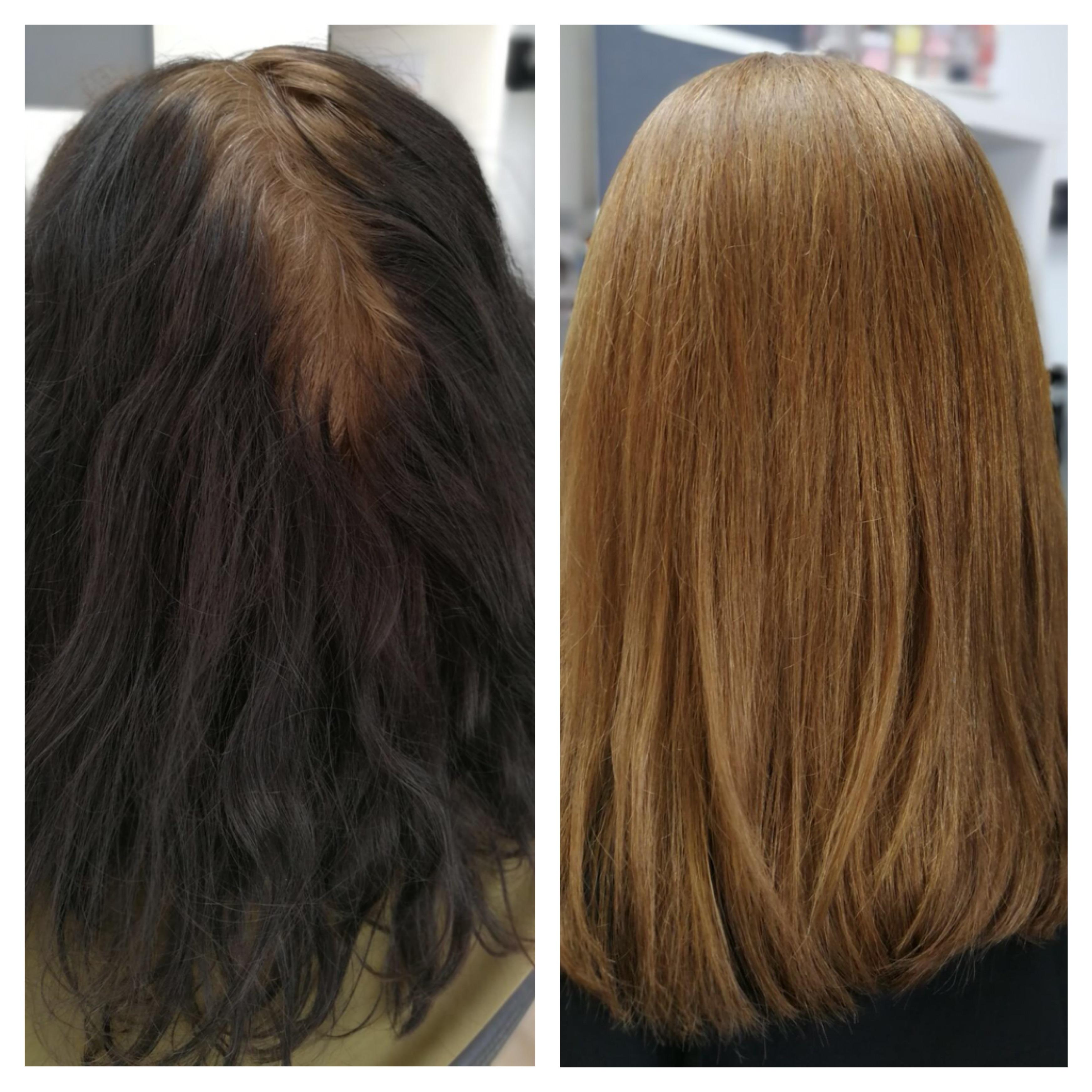 Natürliche Aufhellung - Jahrelang schwarz gefärbtes Haar